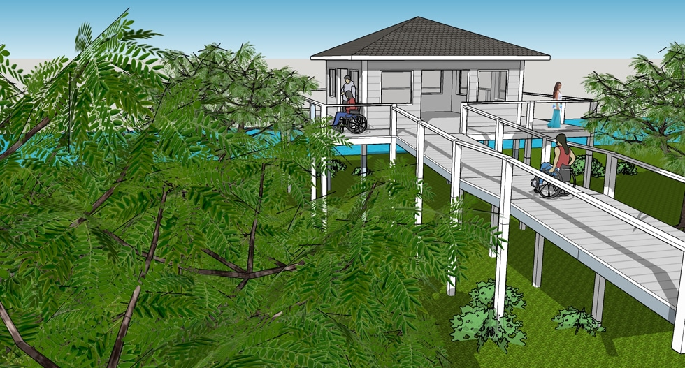 proposed environmental center at Rotary's Camp Florida would provide access to wheelchair campers
