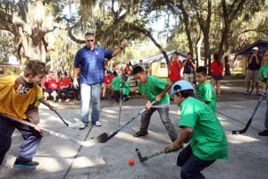 hockey at Rotary's Camp Florida